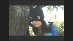 Our masked heroine....
