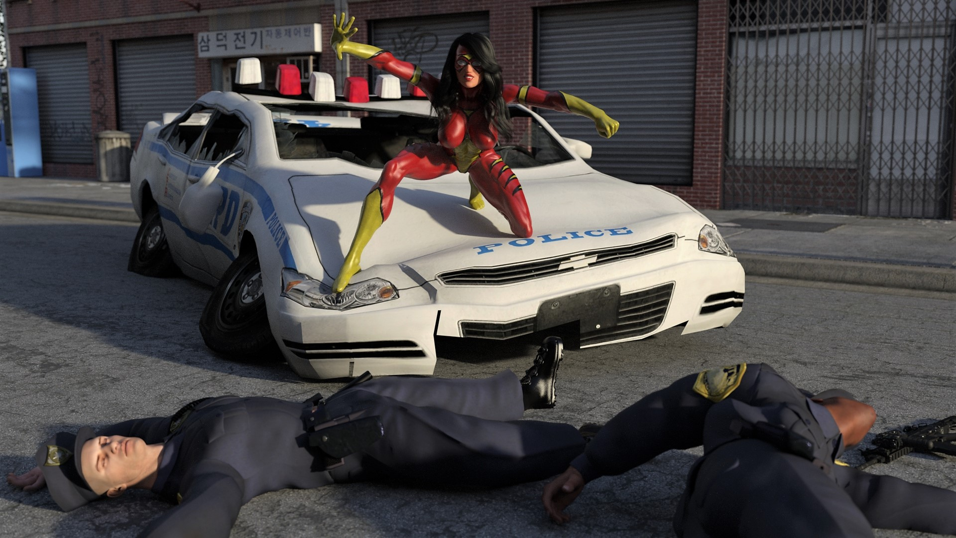spiderwoman police brutality 19 by mannameded-db7vly6